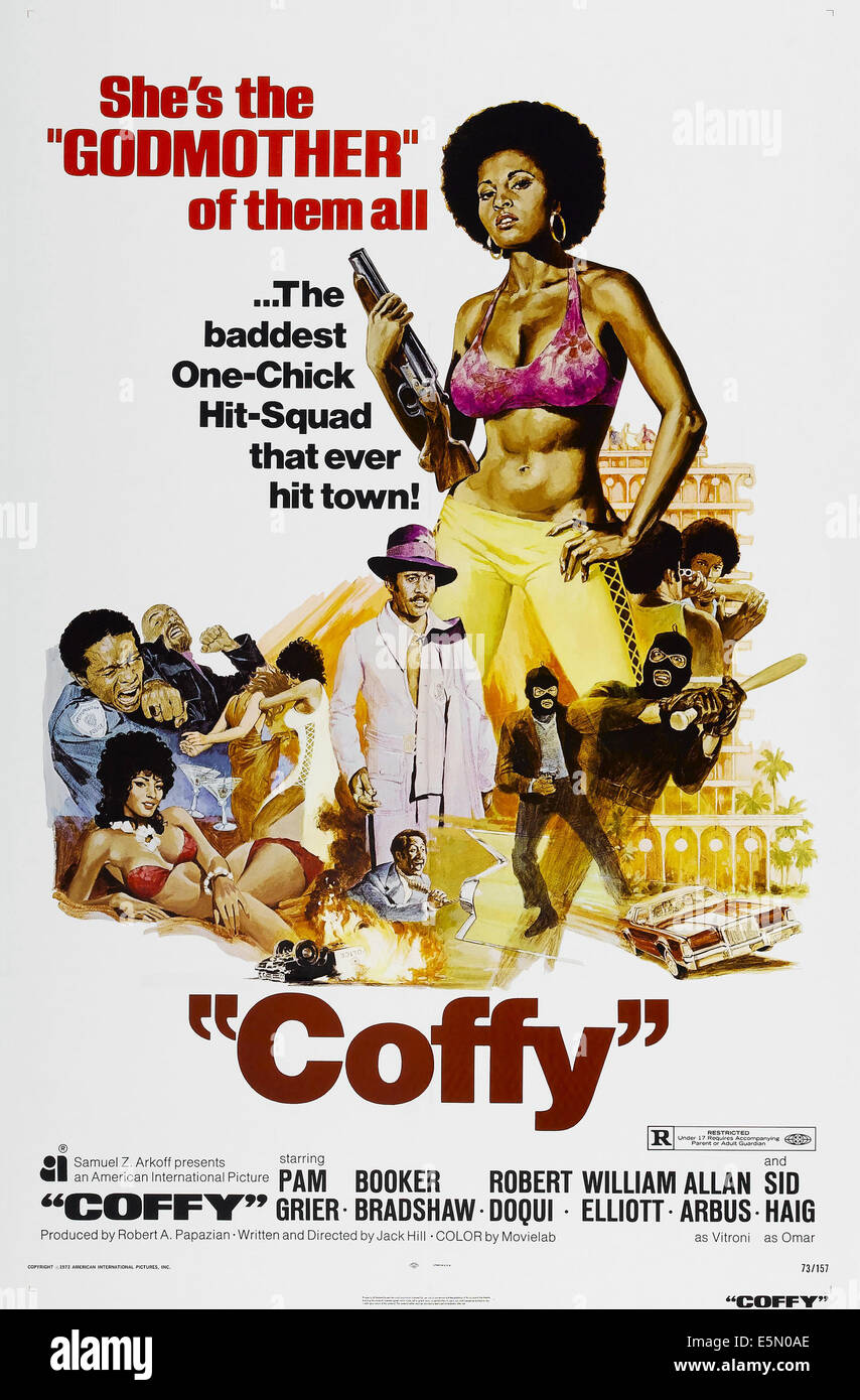COFFY, US poster, Pam Grier, 1973 - Stock Image