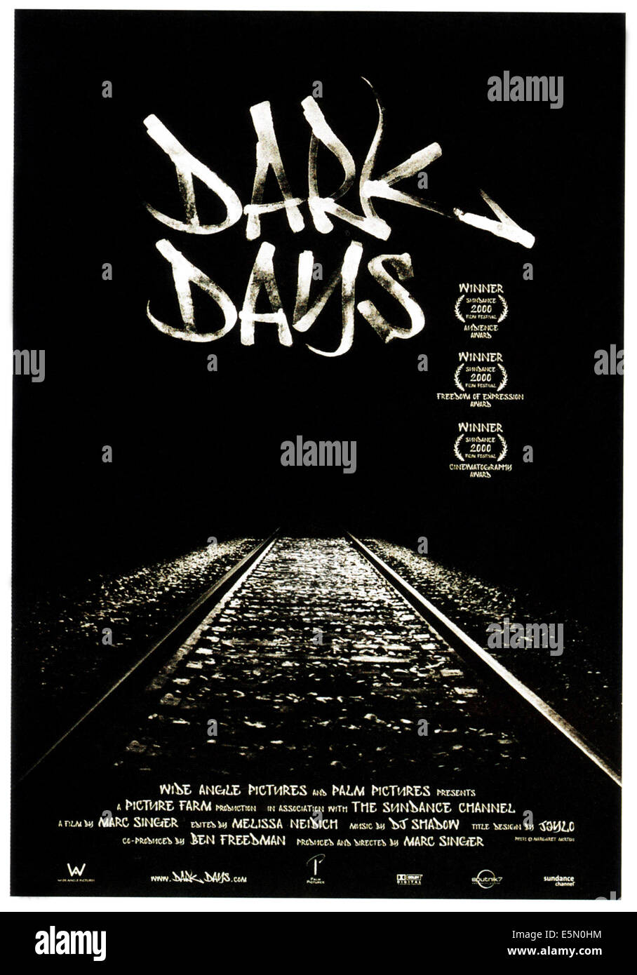 DARK DAYS, poster art, 2000, ©Palm Pictures/courtesy Everett Collection - Stock Image