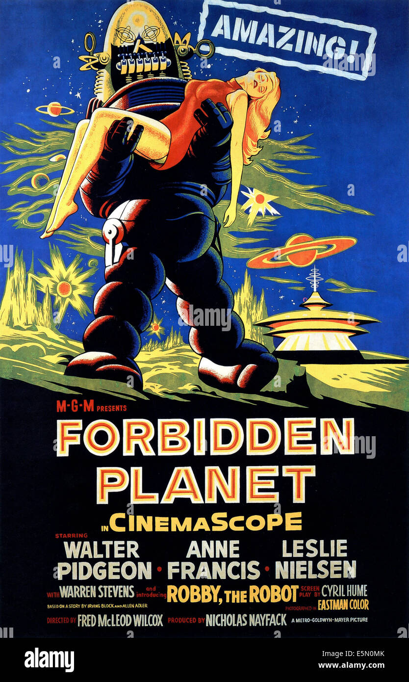 FORBIDDEN PLANET, 1956 - Stock Image