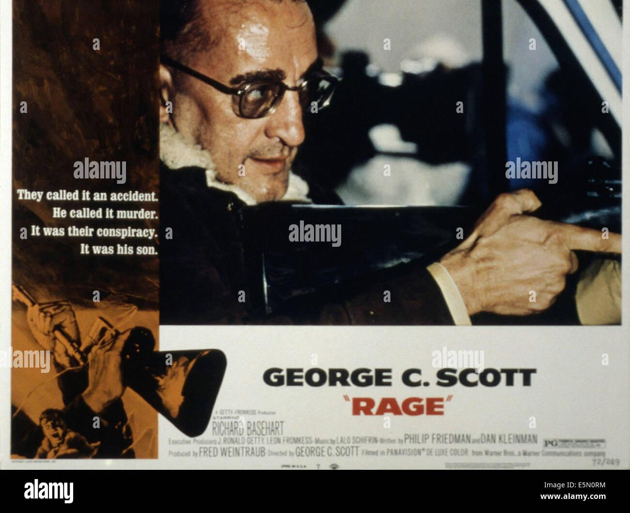 RAGE, George C. Scott, 1972 - Stock Image