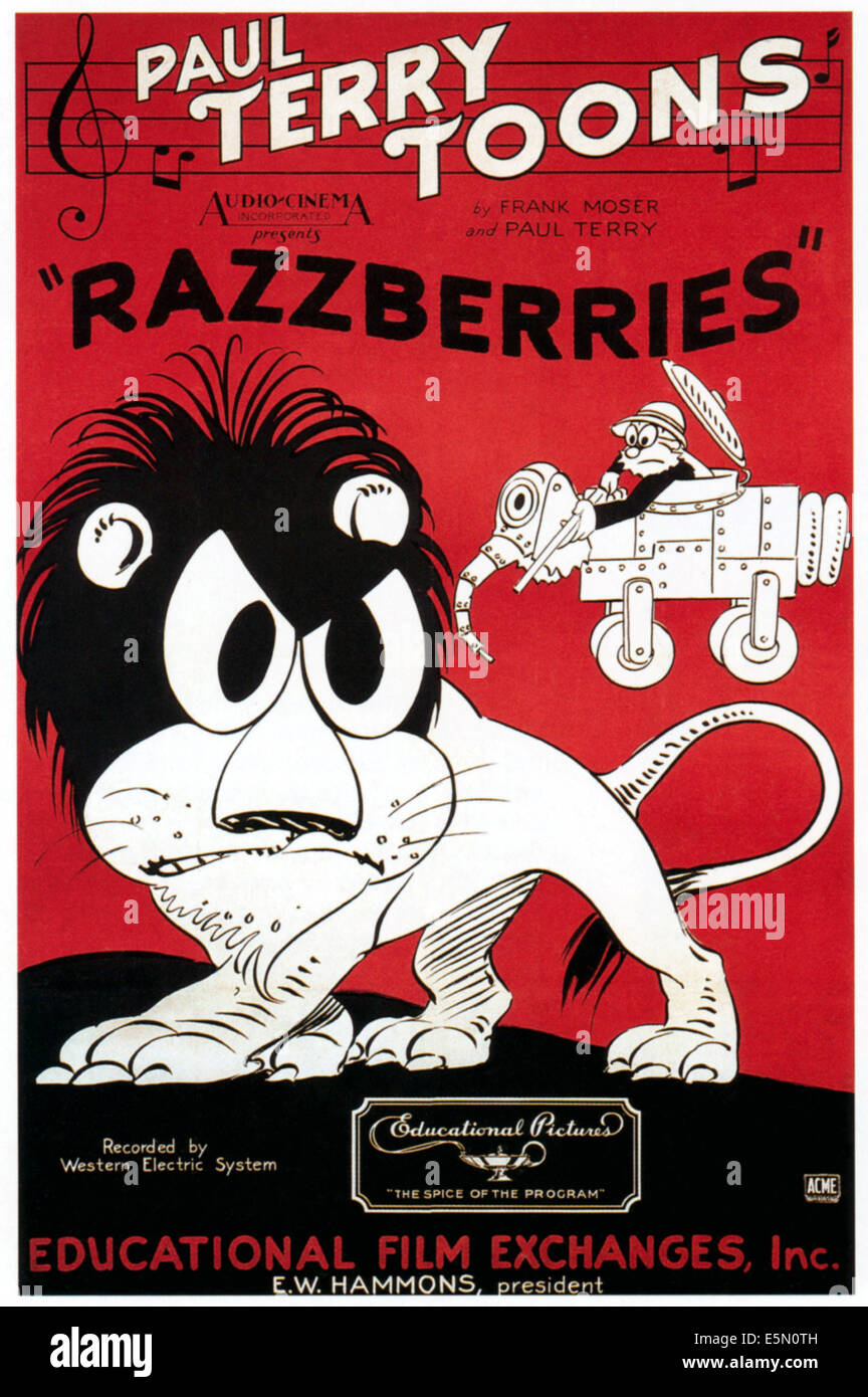 RAZZBERRIES, poster art, 1931. - Stock Image