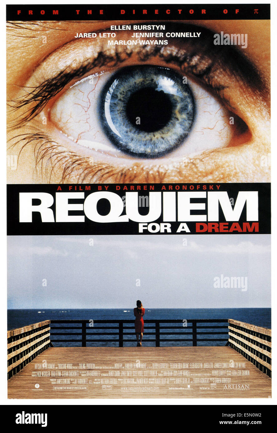REQUIEM FOR A DREAM, poster art, 2000, ©Artisan Entertainment/courtesy Everett Collection - Stock Image