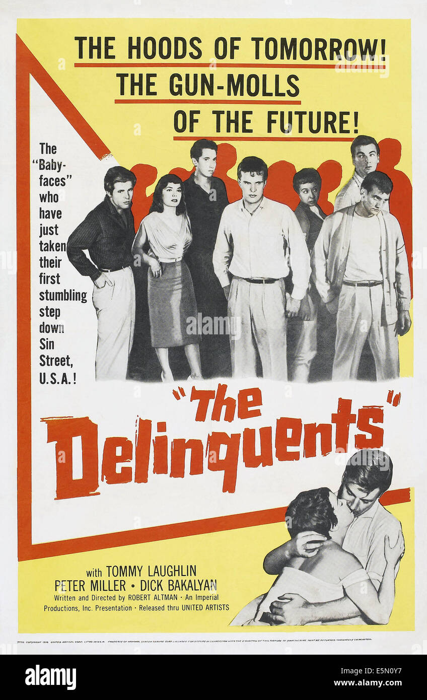 THE DELINQUENTS, poster art, 1957 - Stock Image