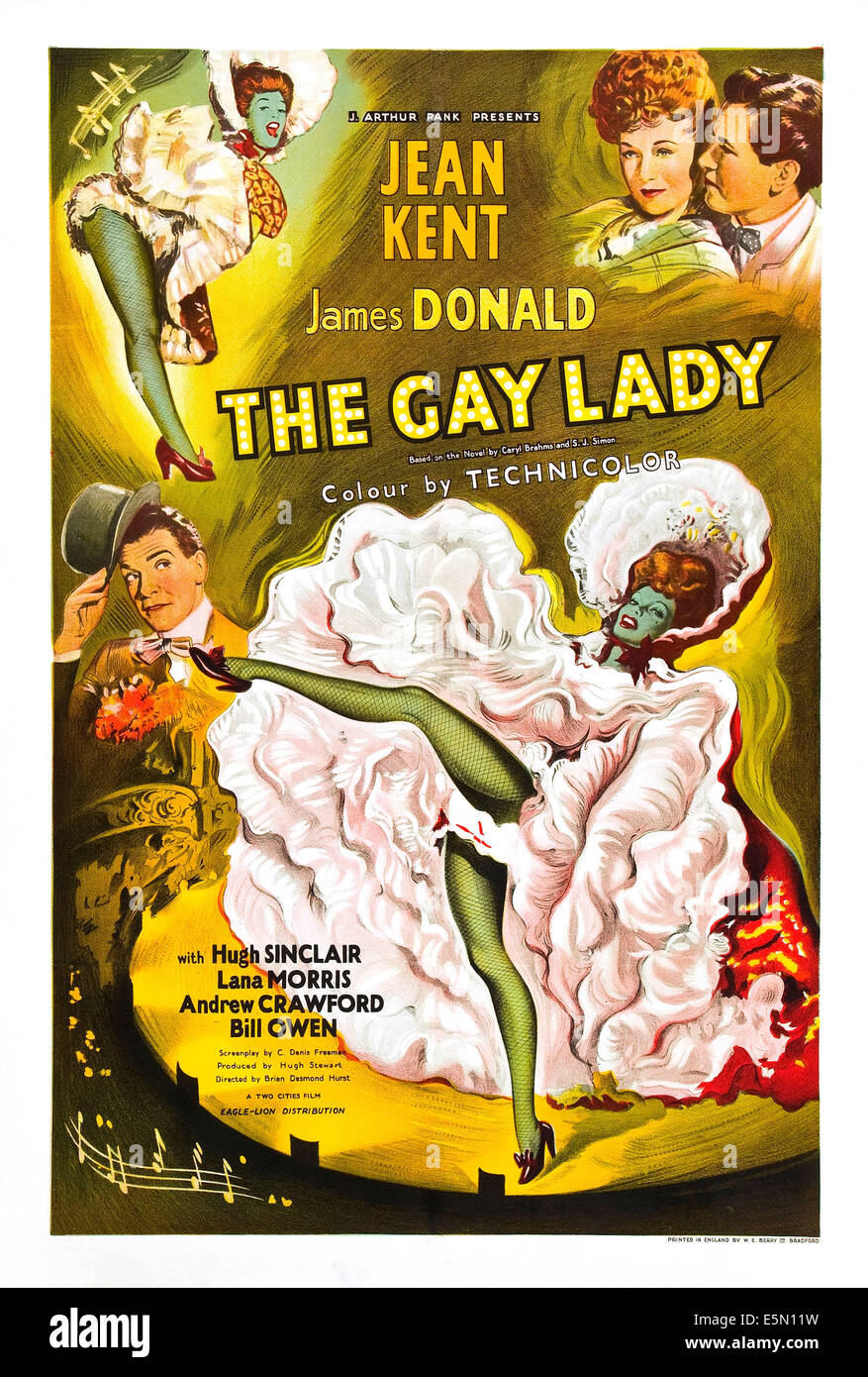 THE GAY LADY (aka TROTTIE TRUE), British poster, top right from left: Jean Kent, James Donald, middle left: Hugh - Stock Image