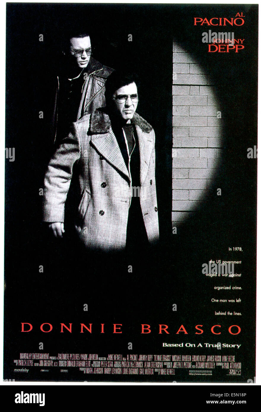DONNIE BRASCO, Johnny Depp, Al Pacino, 1997, ©TriStar Pictures/courtesy Everett Collection Stock Photo