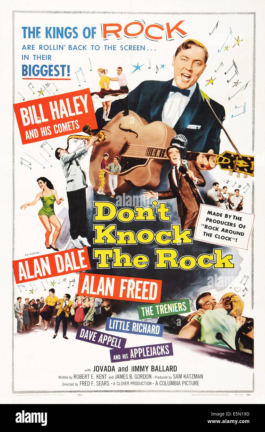 DON'T KNOCK THE ROCK, Bill Haley, Alan Freed, 1956 - Stock Image