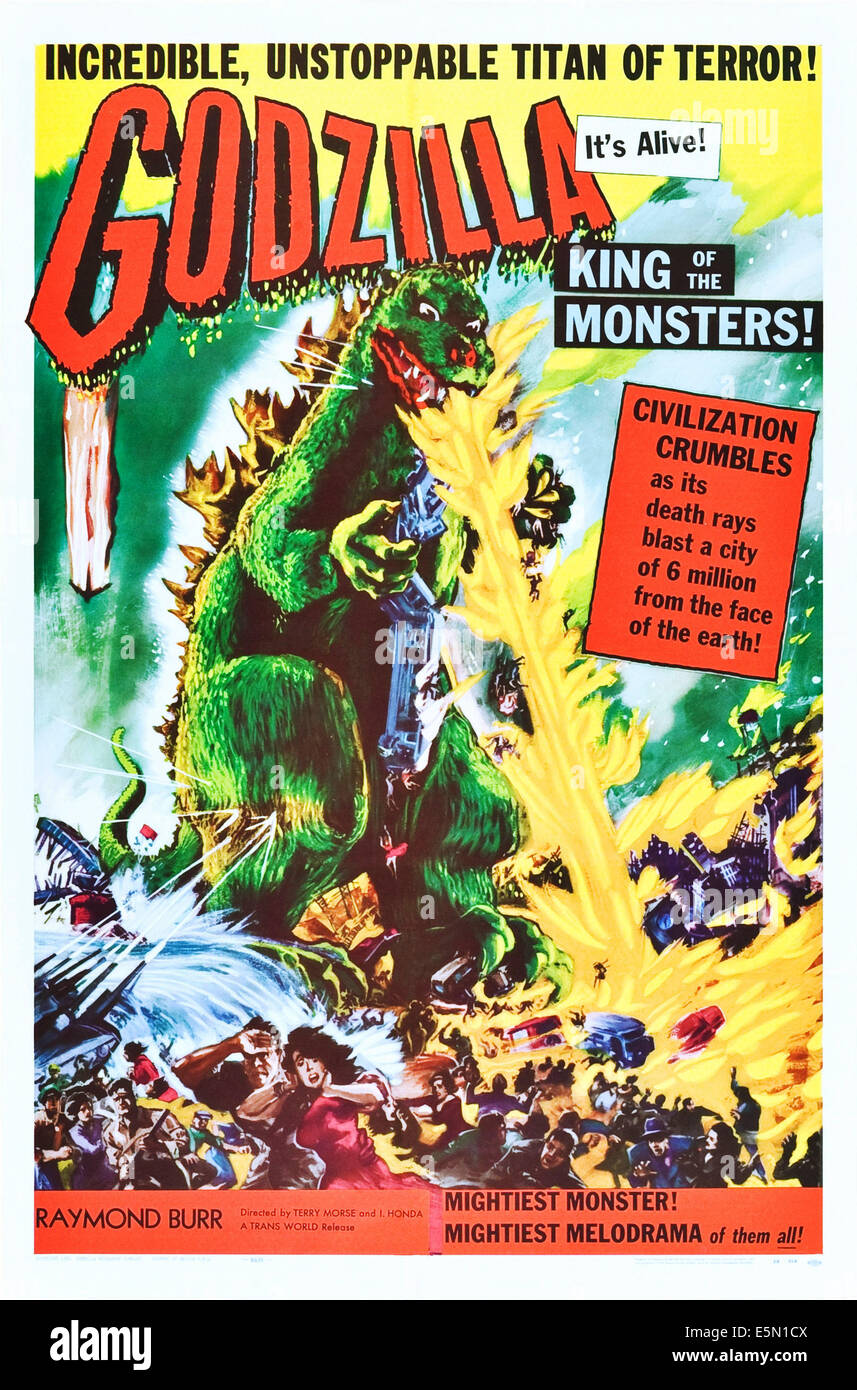 GODZILLA, KING OF THE MONSTERS!, (aka 'GOJIRA' upon its initial release in Japan in 1954); as 'Godzilla': - Stock Image