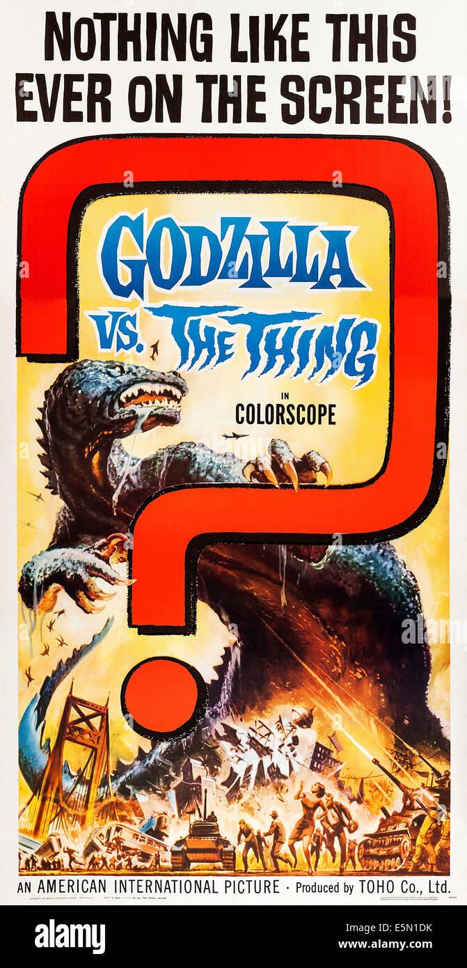 GODZILLA VS. THE THING (aka MOTHRA VS. GODZILLA, aka MOSURA TAI GOJIRA), US poster, Godzilla, 1964 - Stock Image