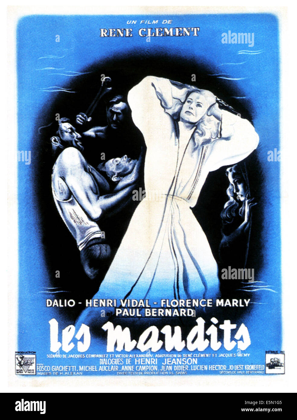THE DAMNED, (aka LES MAUDITS), French poster art, 1947 - Stock Image