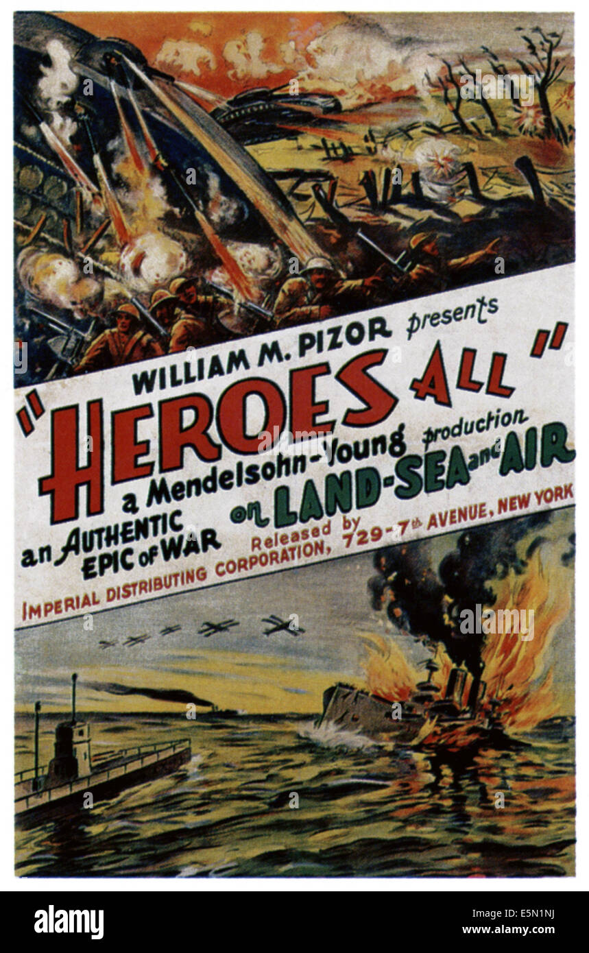 HEROES ALL, 1918. - Stock Image