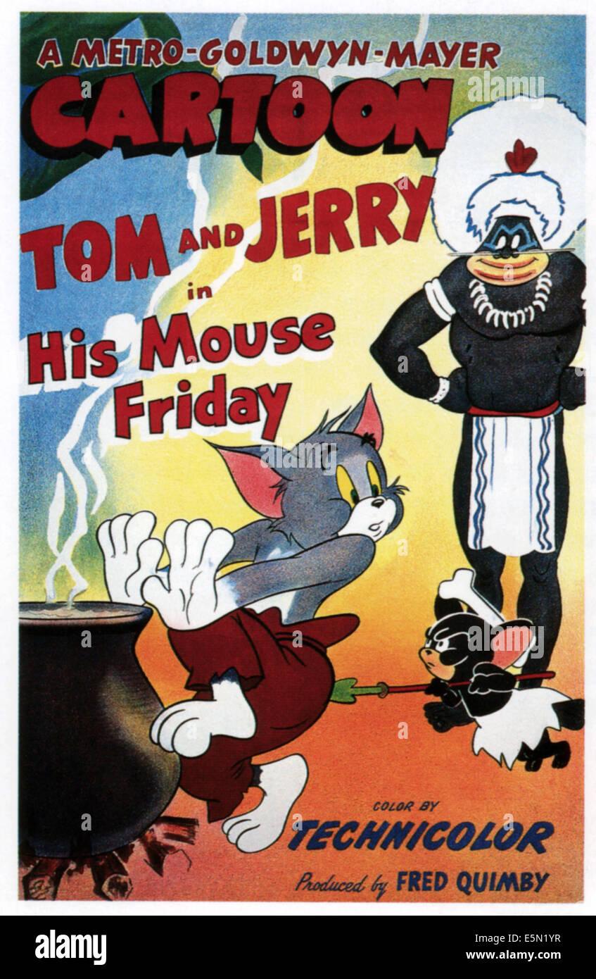 Tom Jerry Hanna Barbera Cartoon Characters Stock Photos