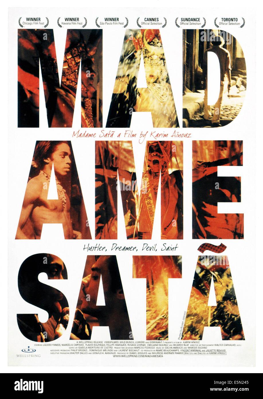 MADAME SATA, poster art, 2002, ©Wellspring Media/courtesy Everett Collection - Stock Image