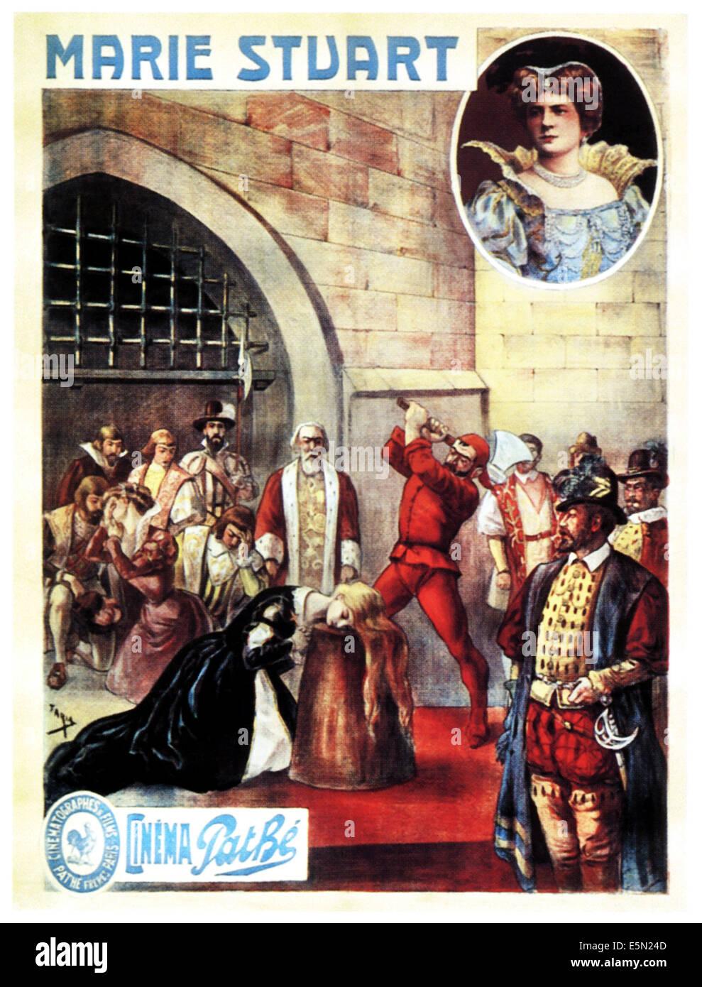 MARIE STUART, French poster art, 1908. - Stock Image