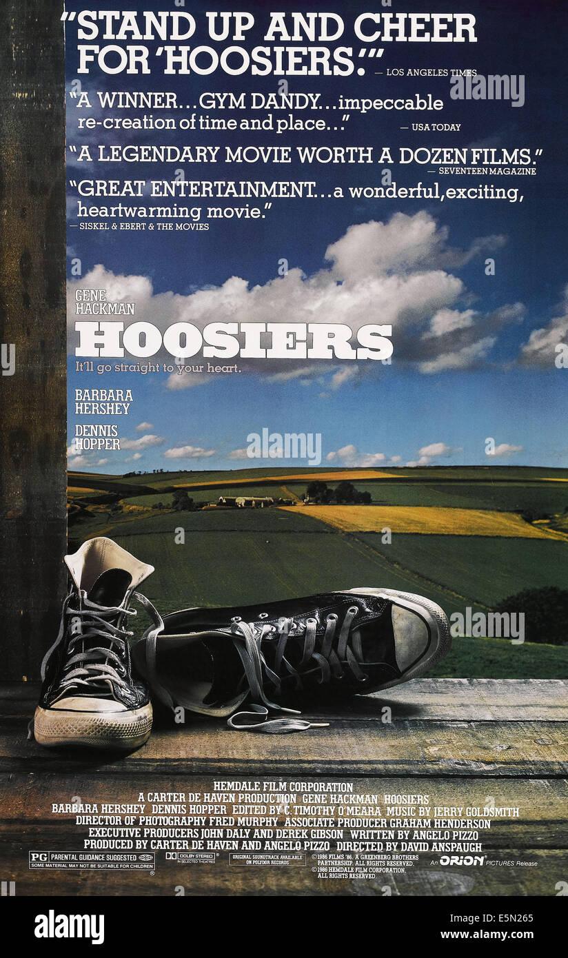 HOOSIERS, (poster art), 1986 - Stock Image