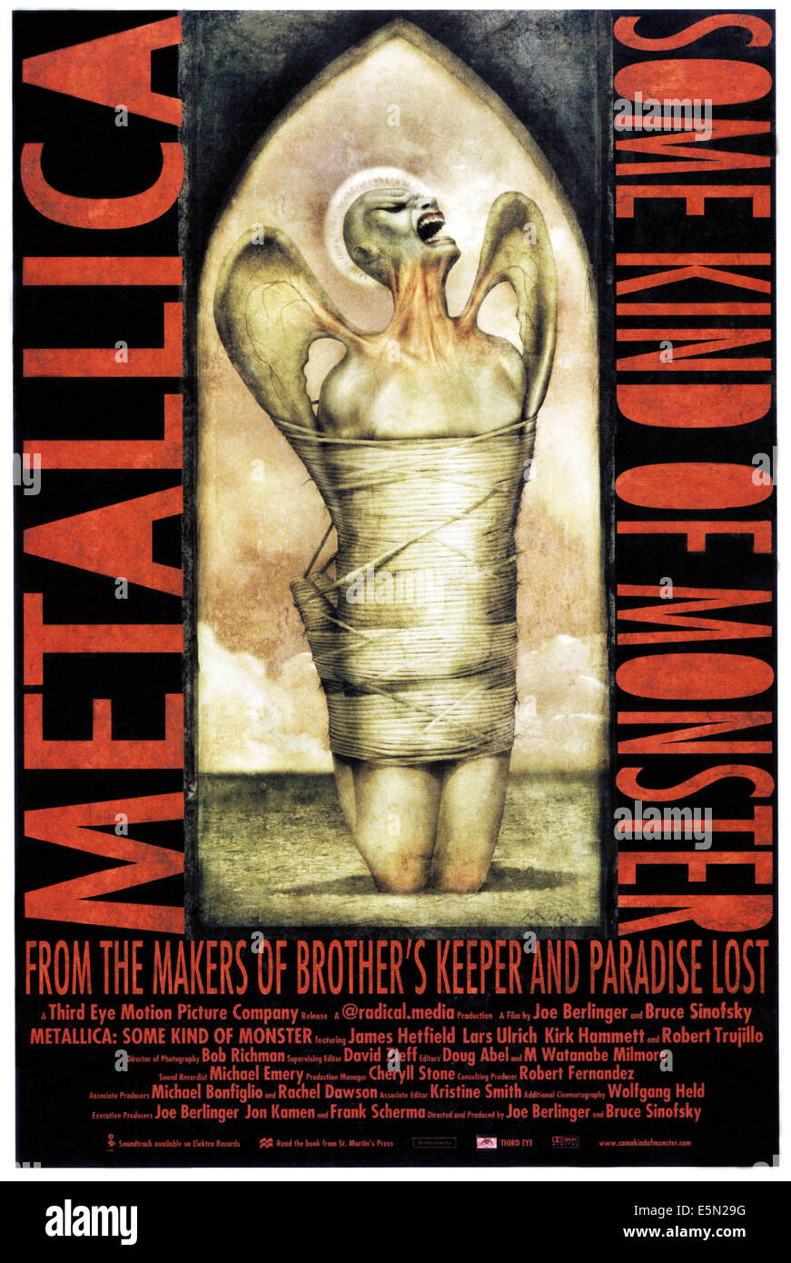 METALLICA: SOME KIND OF MONSTER, poster art, 2004, ©IFC Films/courtesy Everett Collection - Stock Image