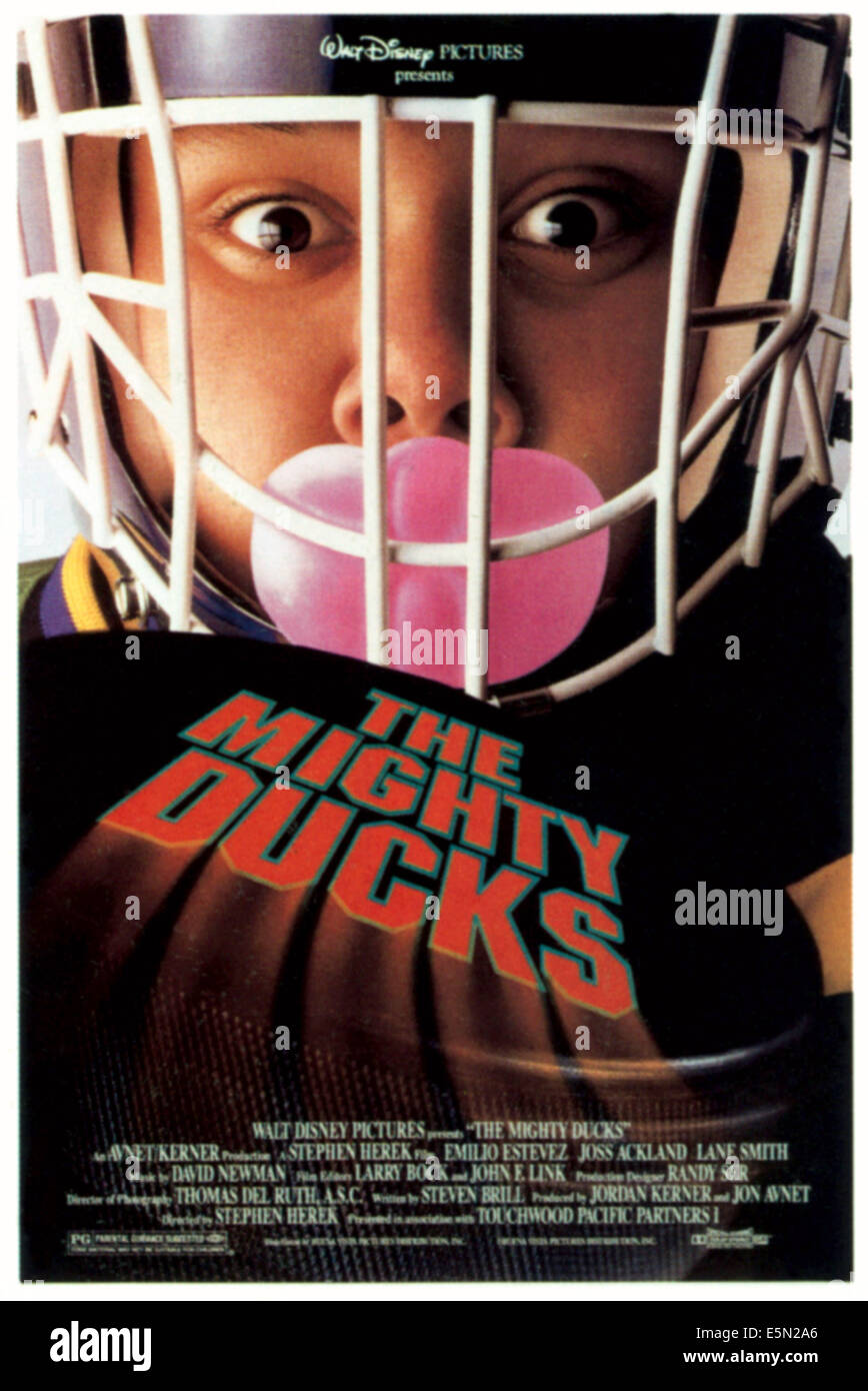 THE MIGHTY DUCKS, 1992, ©Buena Vista Pictures/courtesy Everett Collection - Stock Image