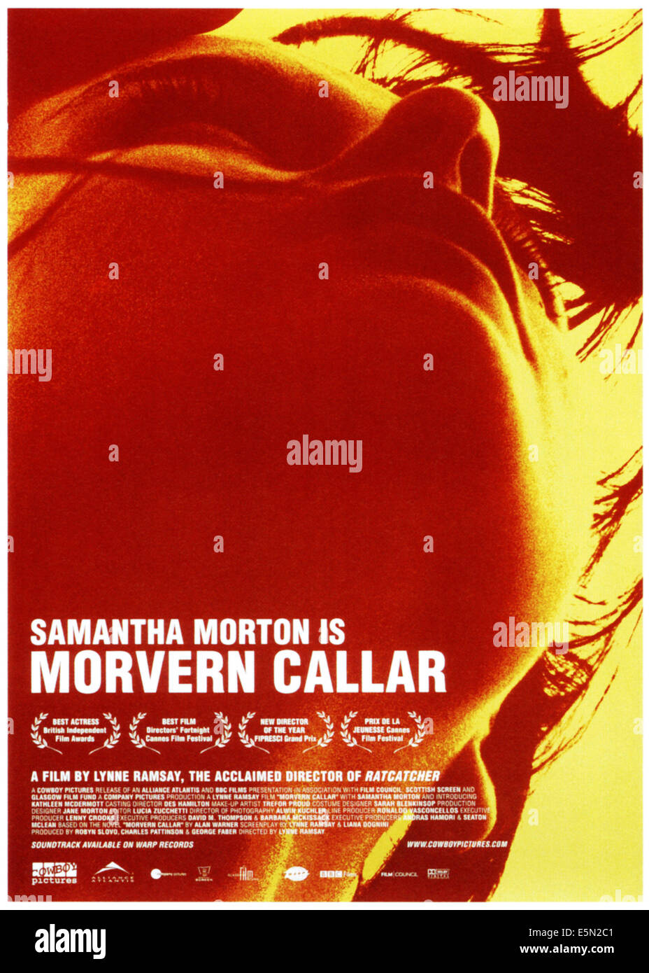 MORVERN CALLAR, poster art, 2002, ©Palisades Pictures/courtesy Everett Collection - Stock Image