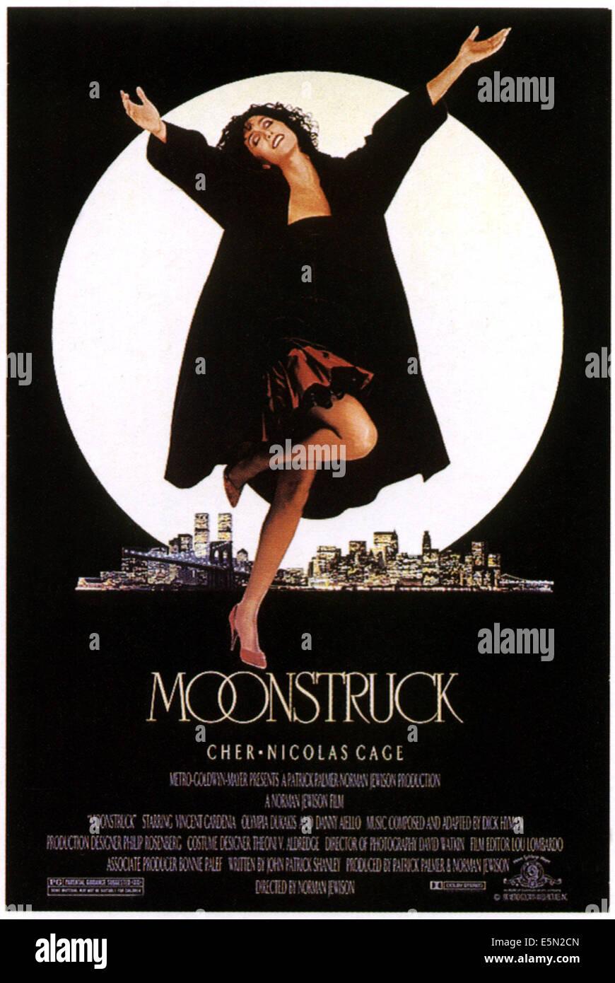 MOONSTRUCK, Cher, 1987 - Stock Image