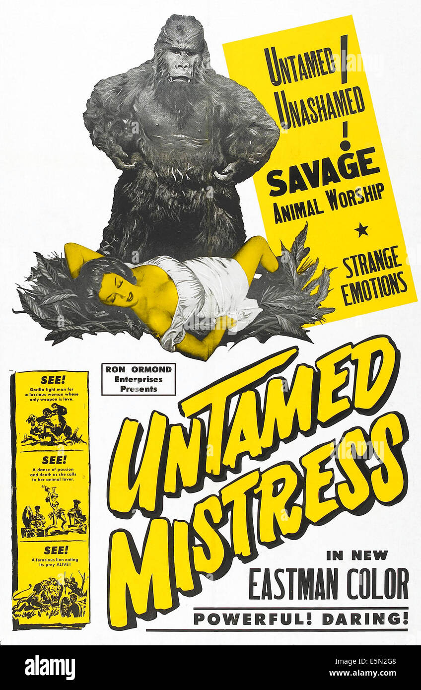 UNTAMED MISTRESS, 1956. - Stock Image