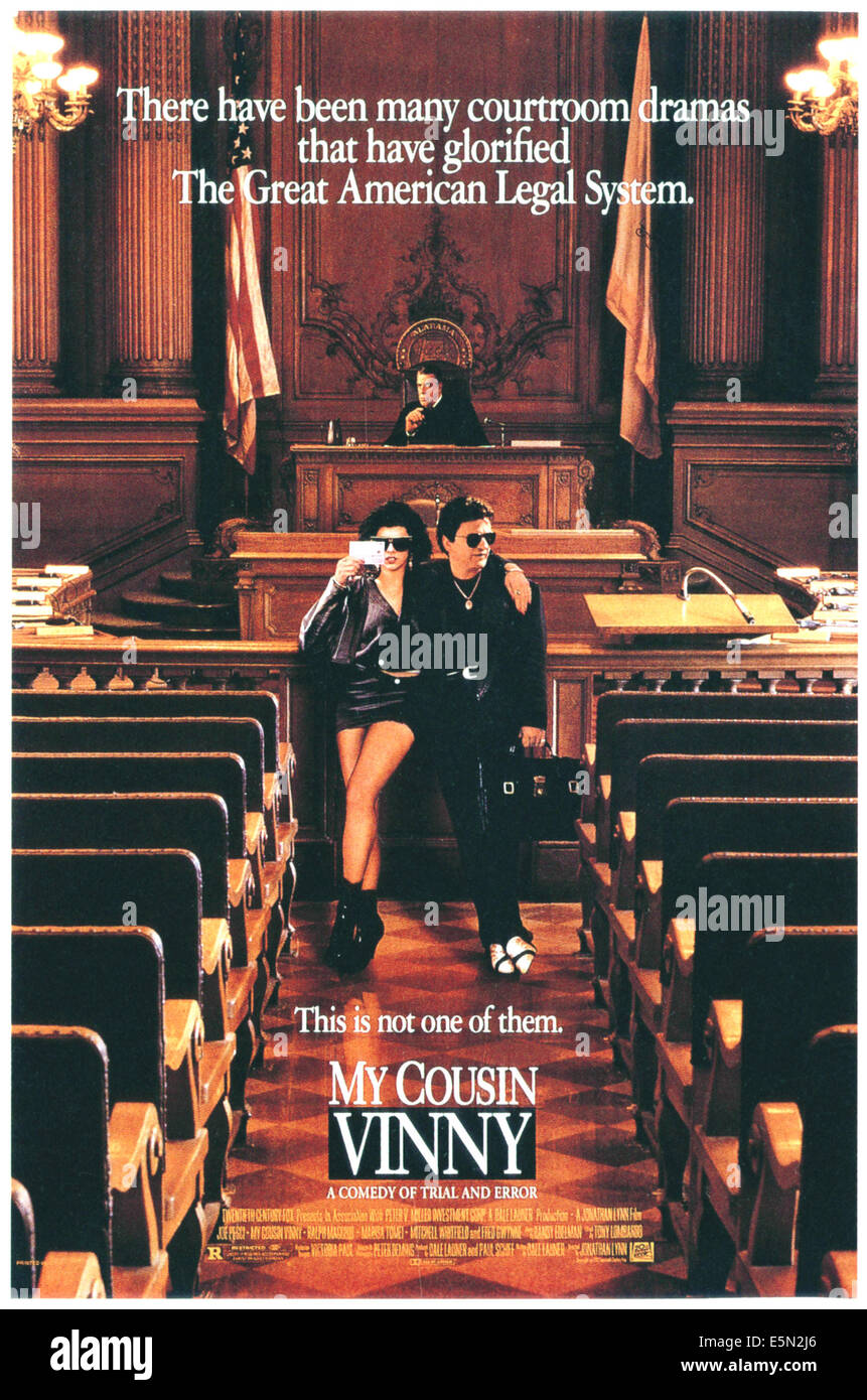 MY COUSIN VINNY, top: Fred Gwynne, bottom left to right: Marisa Tomei, Joe Pesci, 1992, TM and Copyright ©20th - Stock Image