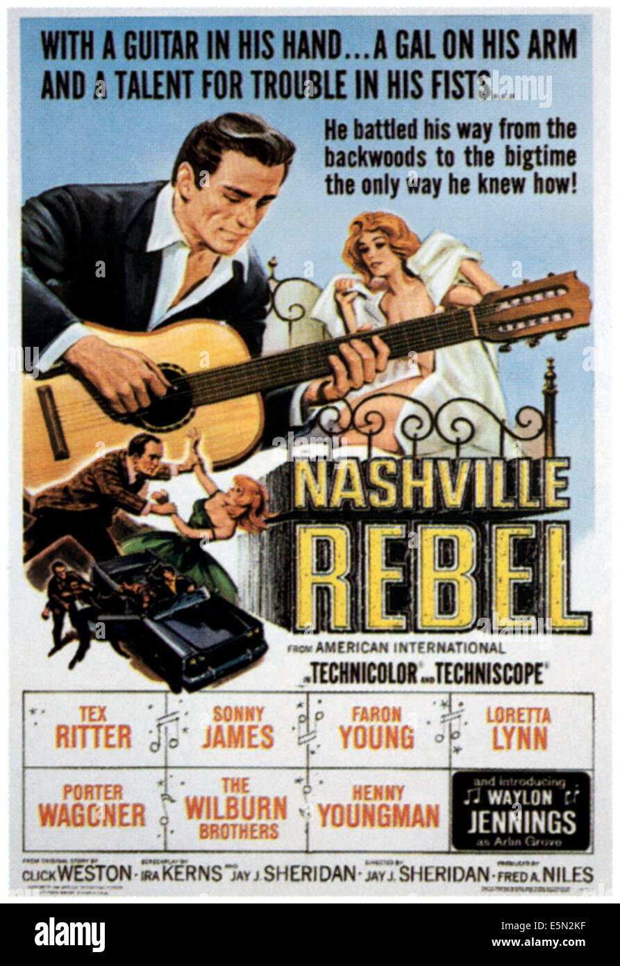 NASHVILLE REBEL, 1966 - Stock Image