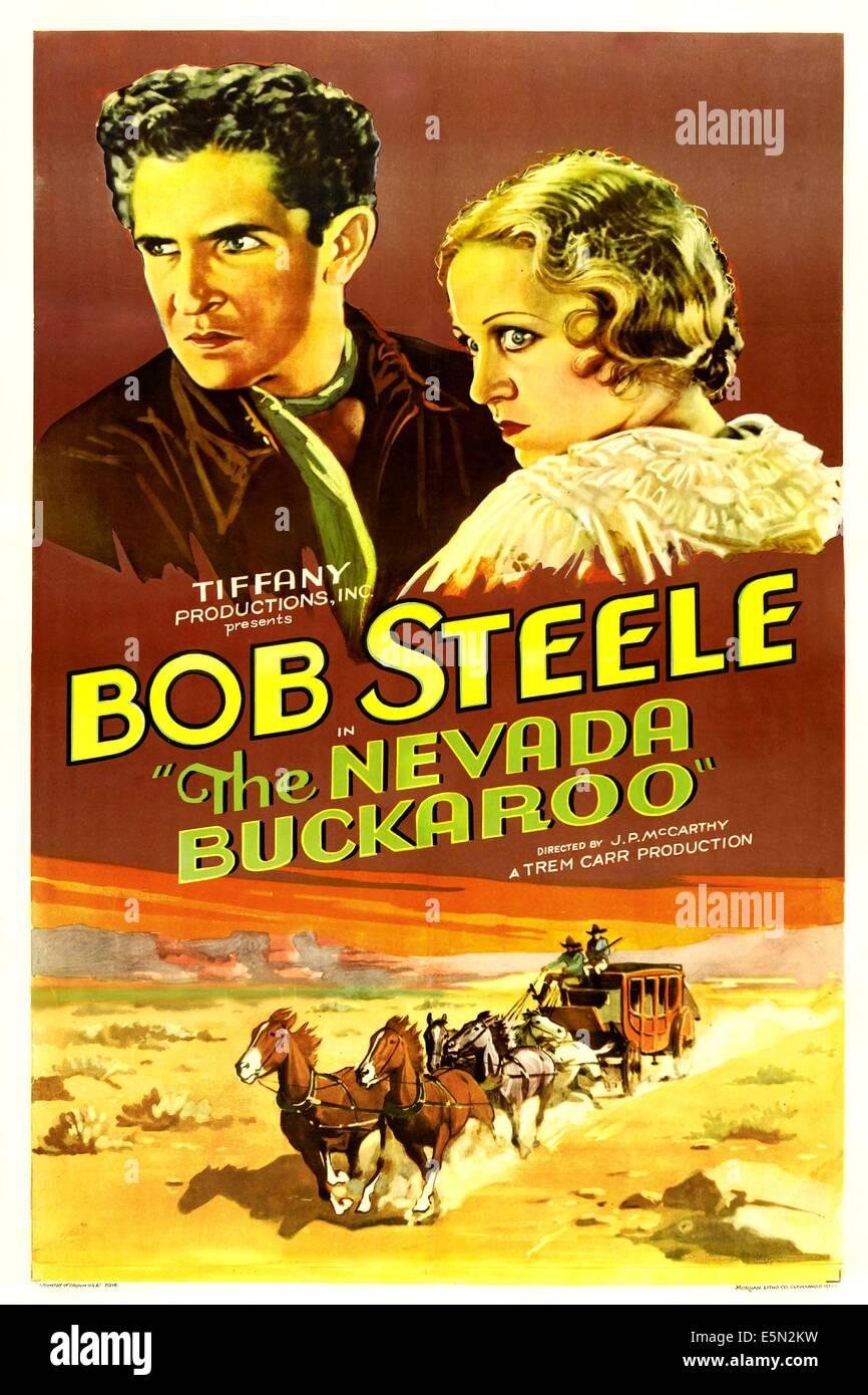 THE NEVADA BUCKAROO, from left: Bob Steele, Dorothy Dix, 1931 Stock Photo