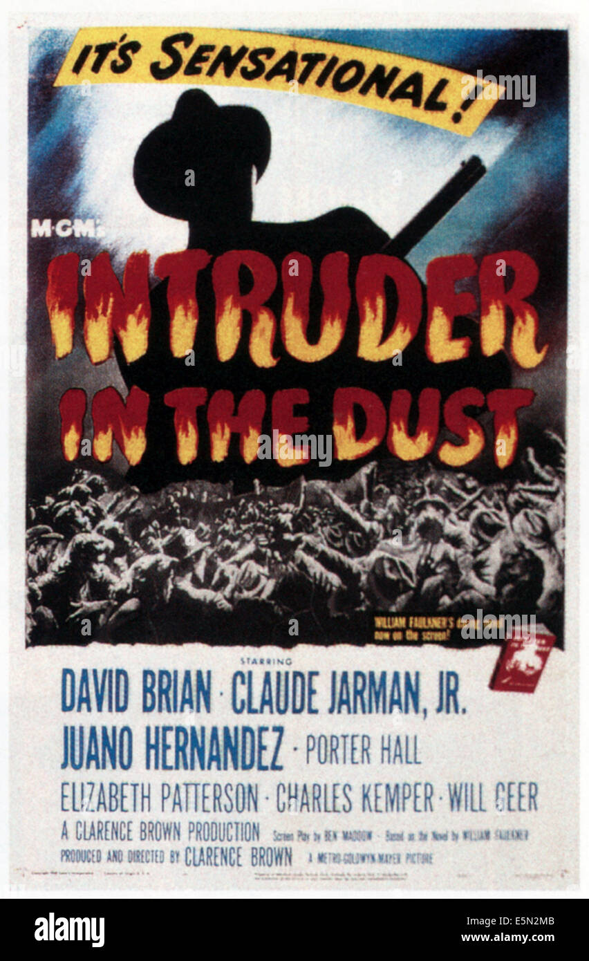 INTRUDER IN THE DUST, 1949 - Stock Image
