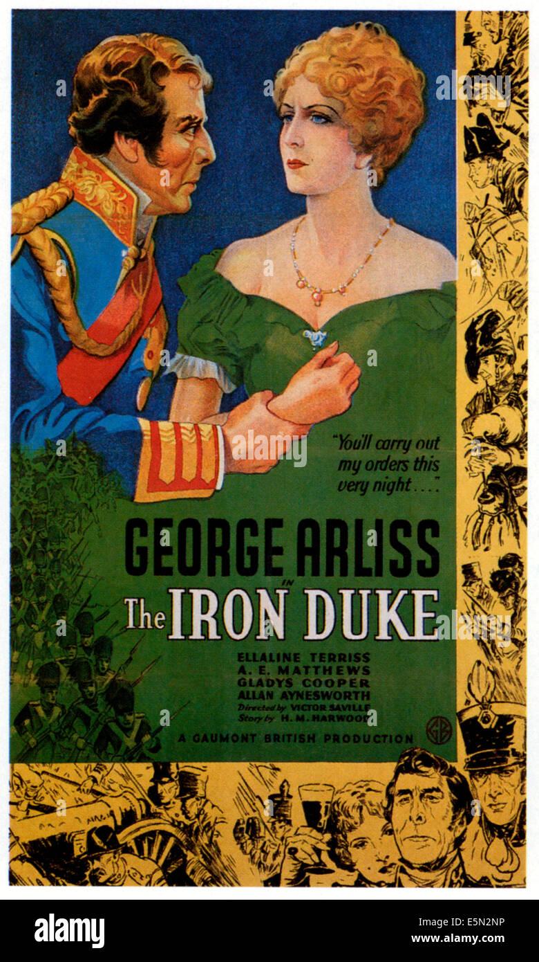 THE IRON DUKE, from left: George Arliss, Ellaline Terriss, 1934. - Stock Image