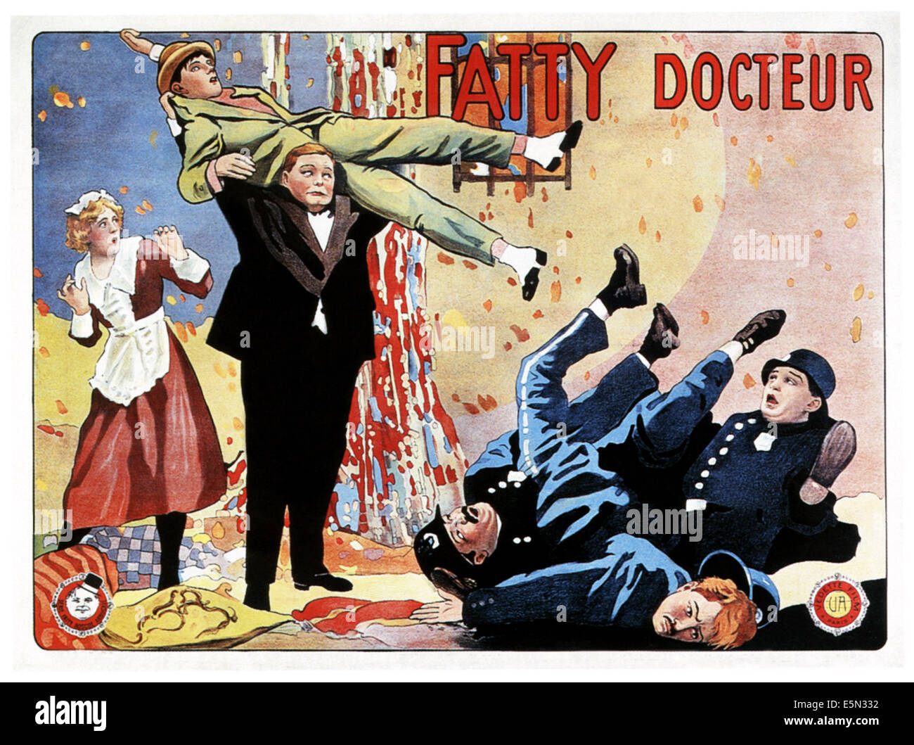 OH DOCTOR! (aka FATTY DOCTEUR), left: Alice Lake, center from top: Buster Keaton, Roscoe 'Fatty' Arbuckle' - Stock Image