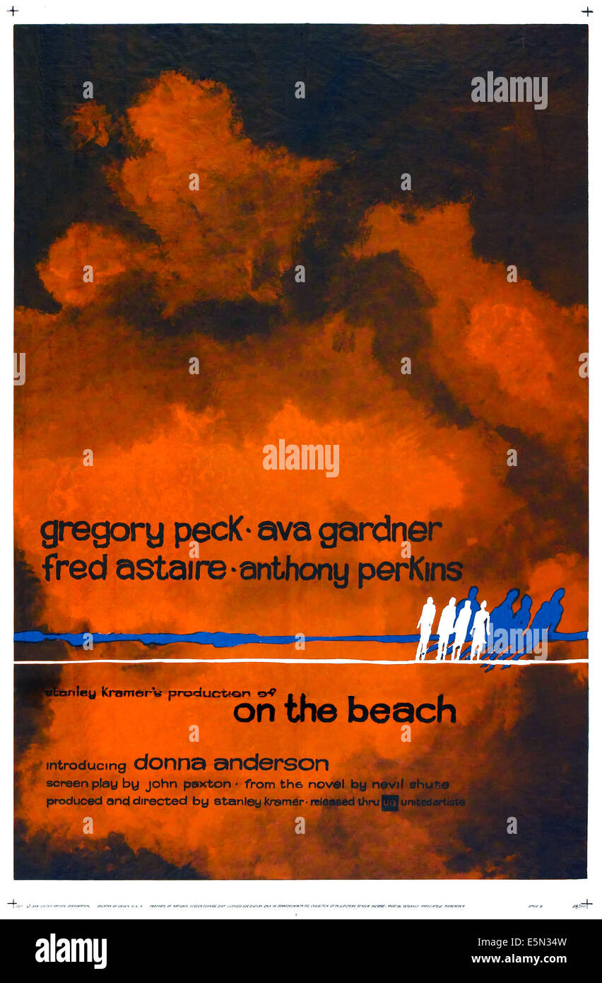 ON THE BEACH, poster art, 1959. - Stock Image