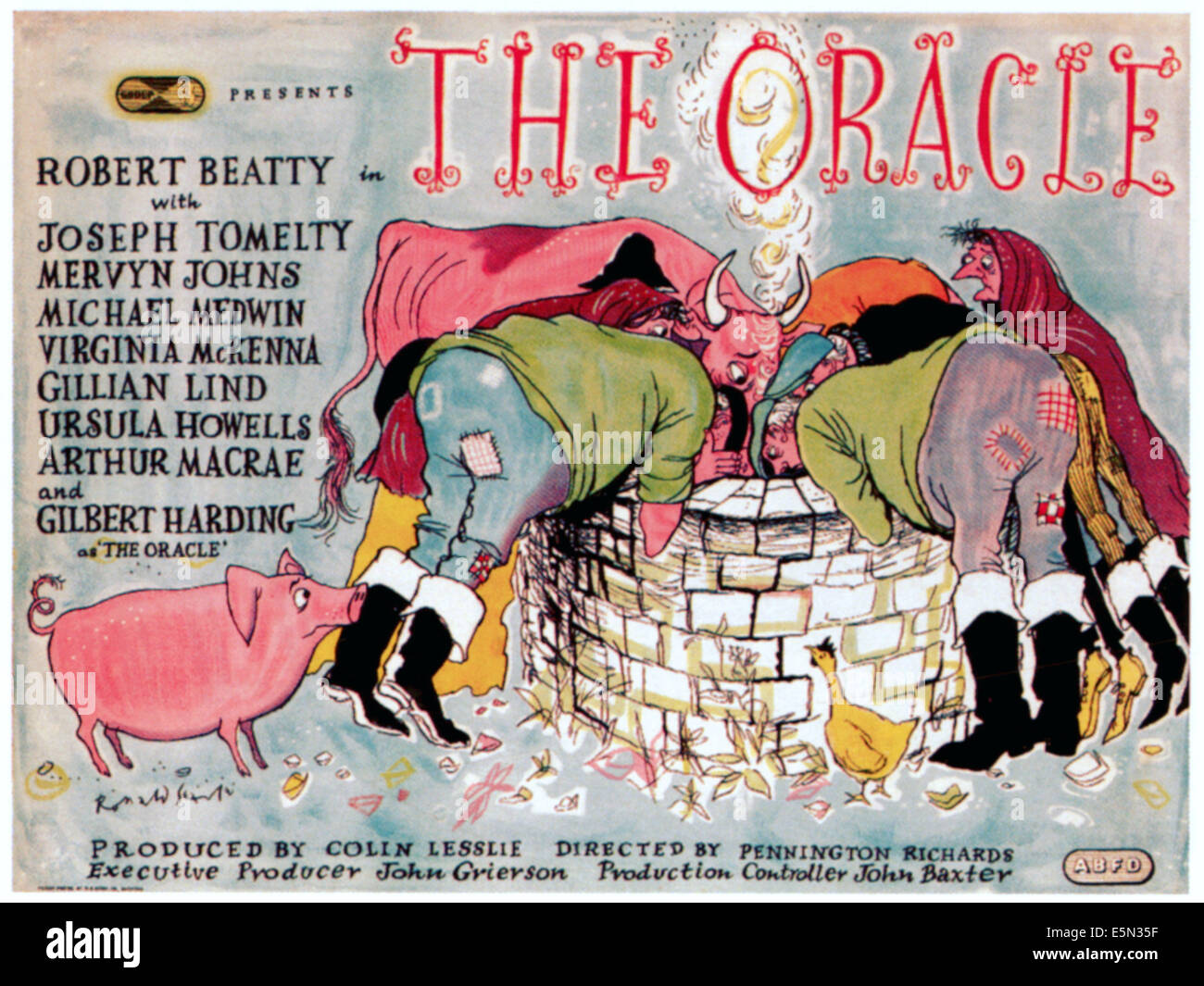 THE ORACLE, 1953 Poster art - Stock Image