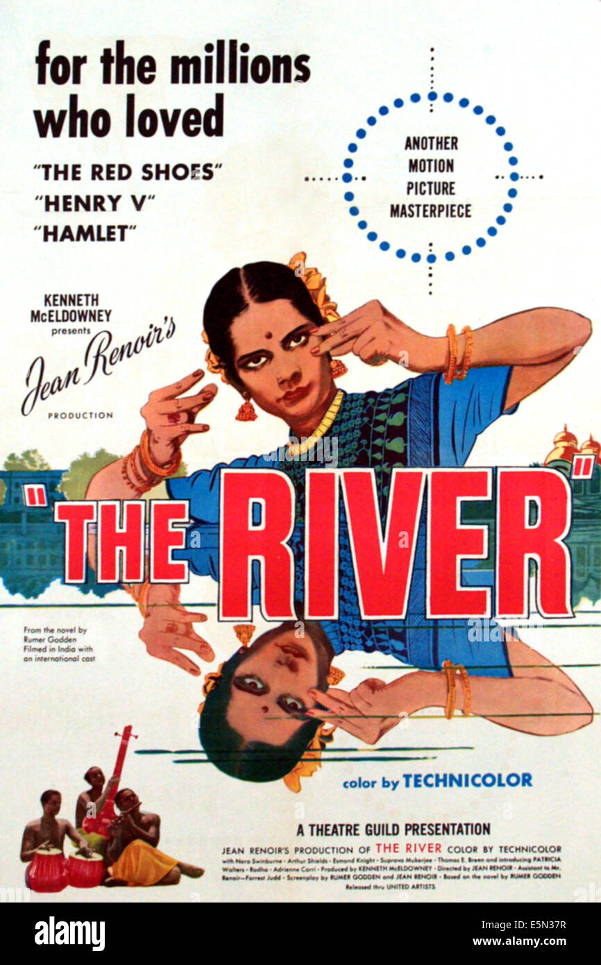 THE RIVER, 1951 Poster art - Stock Image