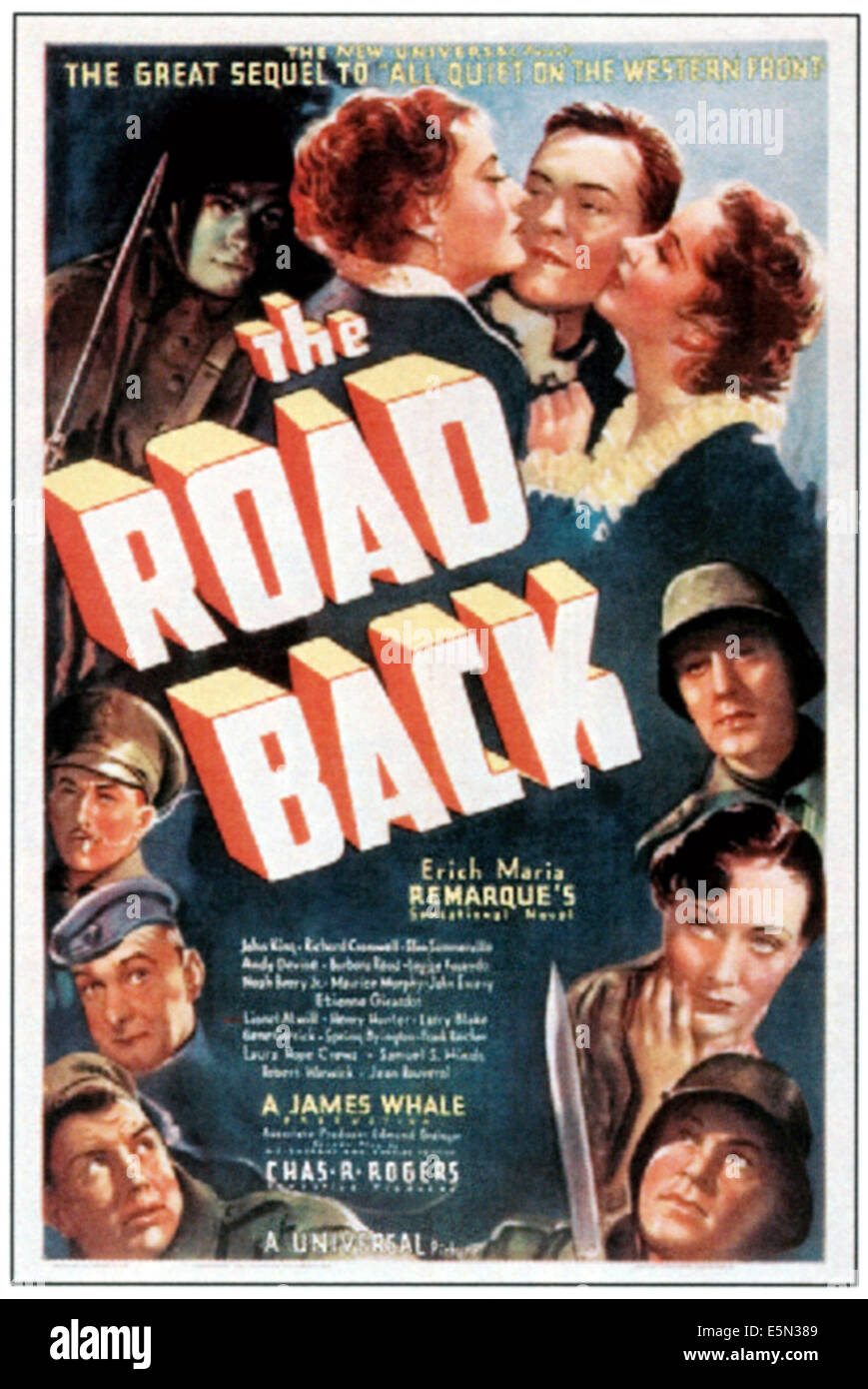 THE ROAD BACK, poster art, 1937 - Stock Image