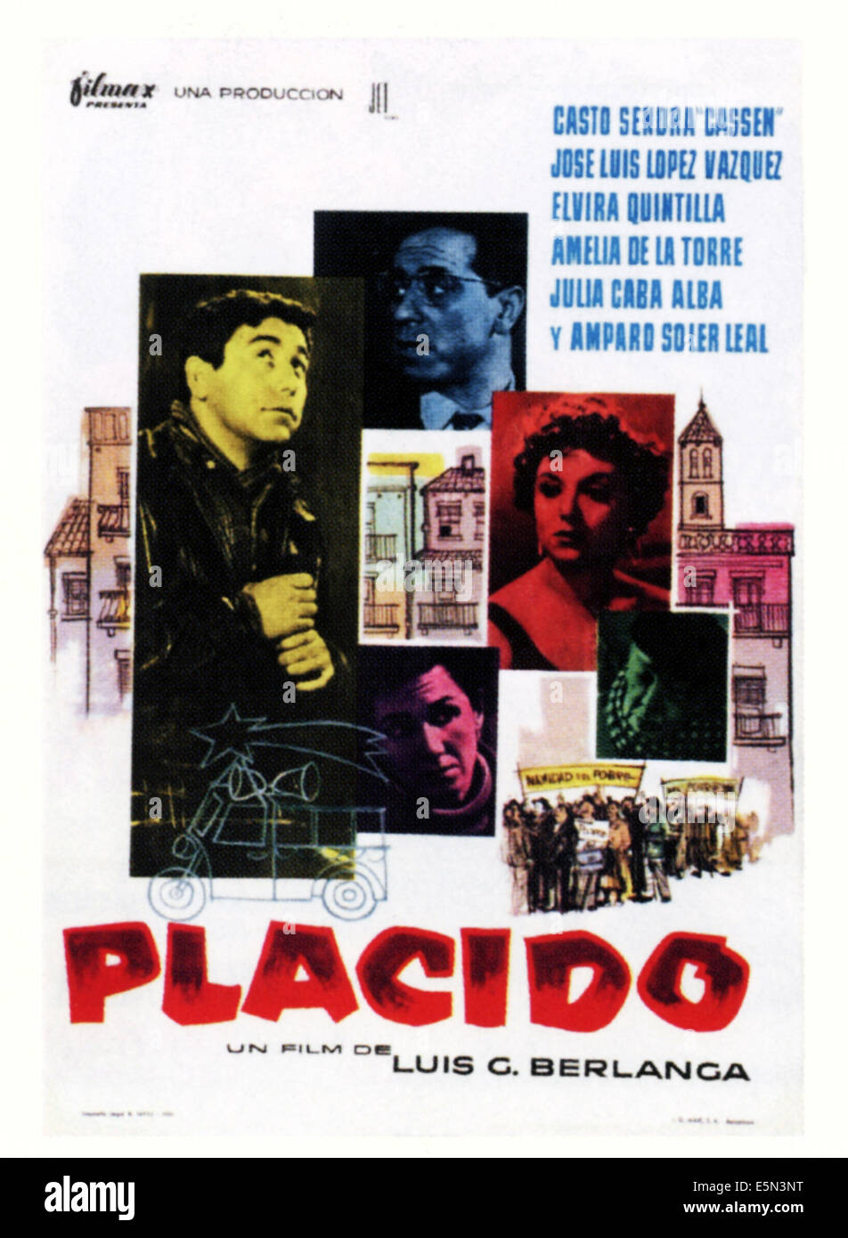 PLACIDO, Spanish poster art, 1961 - Stock Image