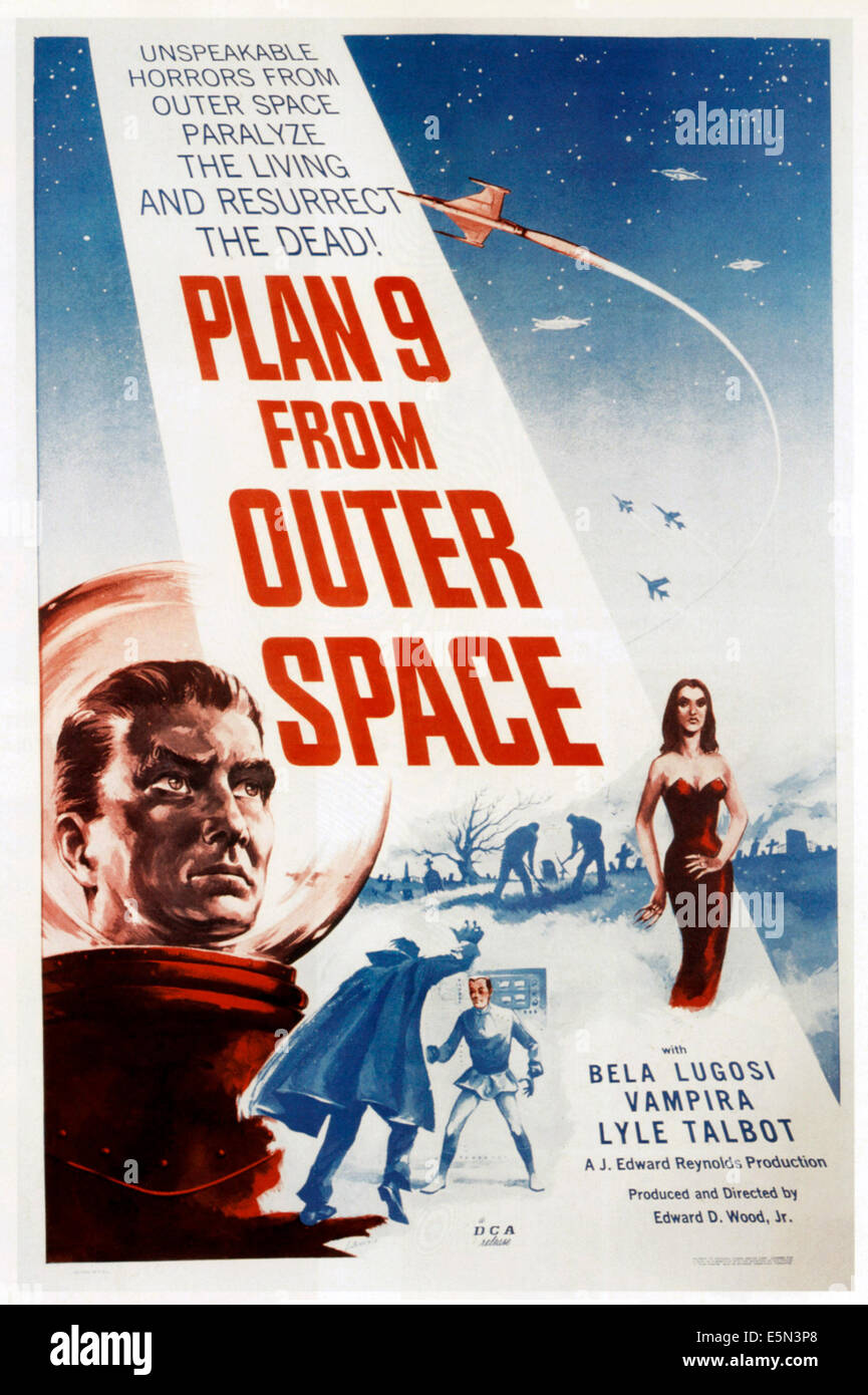 PLAN 9 FROM OUTER SPACE, 1959 - Stock Image