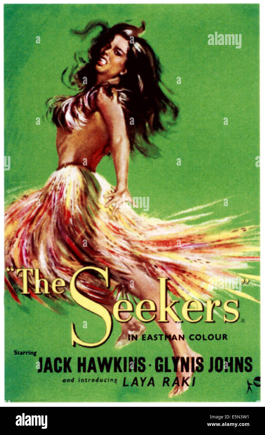 THE SEEKERS, poster art, 1954. - Stock Image