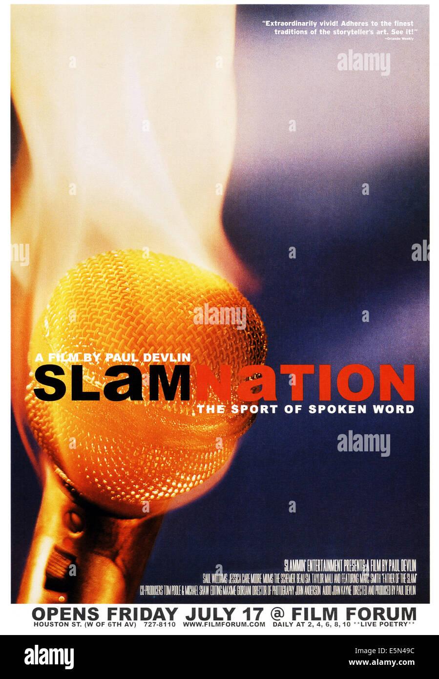 SLAMNATION, poster art, 1998 - Stock Image
