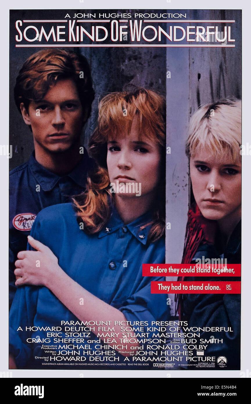 SOME KIND OF WONDERFUL, US poster art, from left: Eric Stoltz, Lea Thompson, Mary Stuart Masterson, 1987. ©Paramount Stock Photo