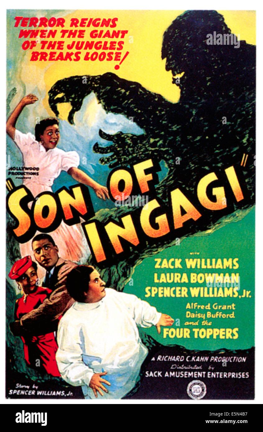 SON OF INGAGI, Arthur Ray, 1940 - Stock Image