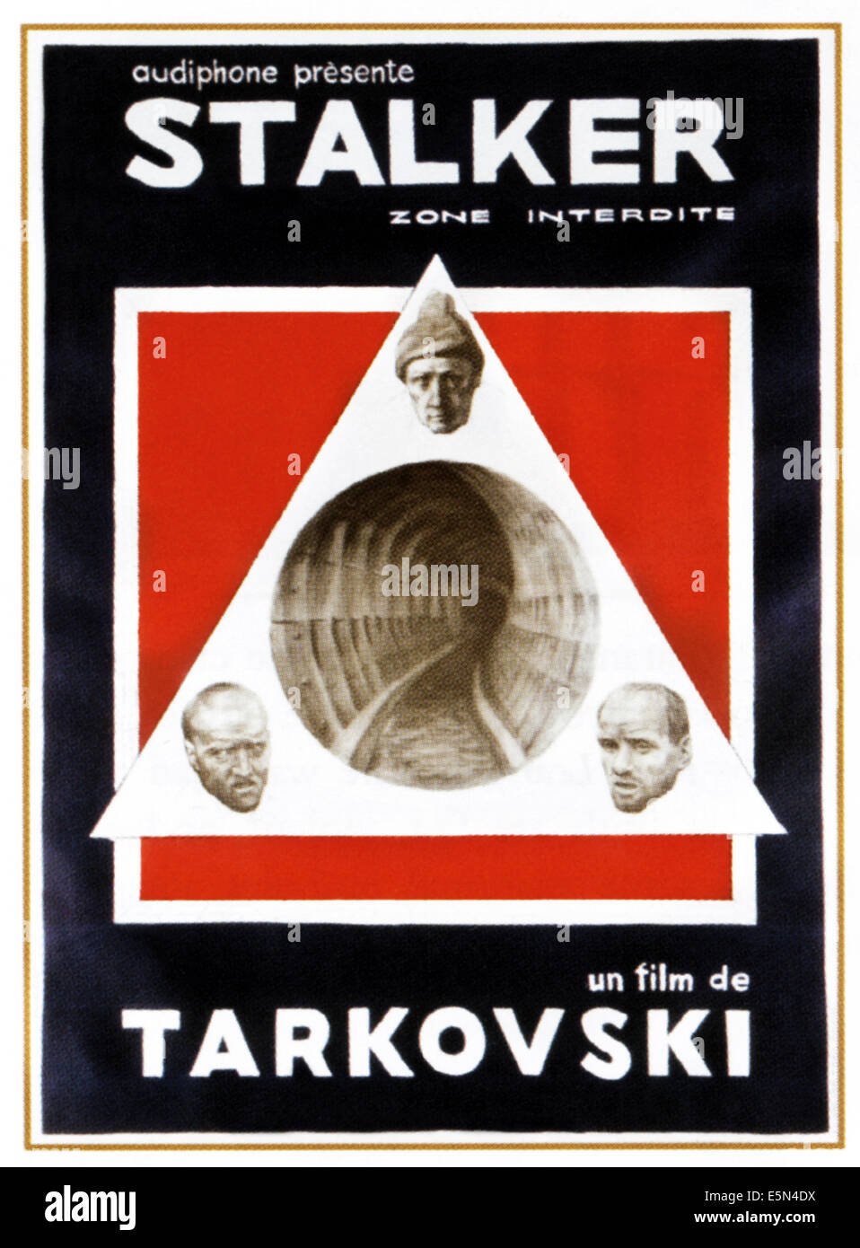 STALKER, 1980s Russian poster, 1979. - Stock Image