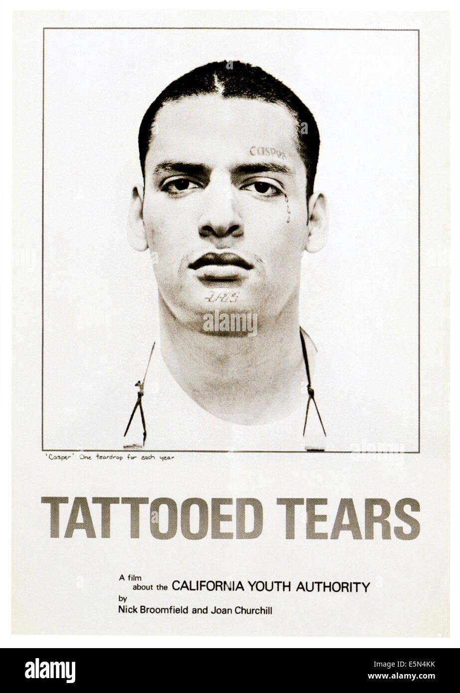 TATTOOED TEARS, poster art, 1979 - Stock Image