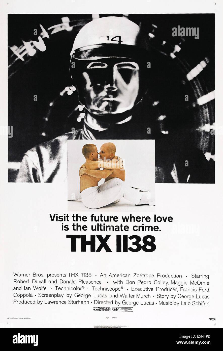 THX 1138, US poster, Maggie McOmie, Robert Duvall, 1971