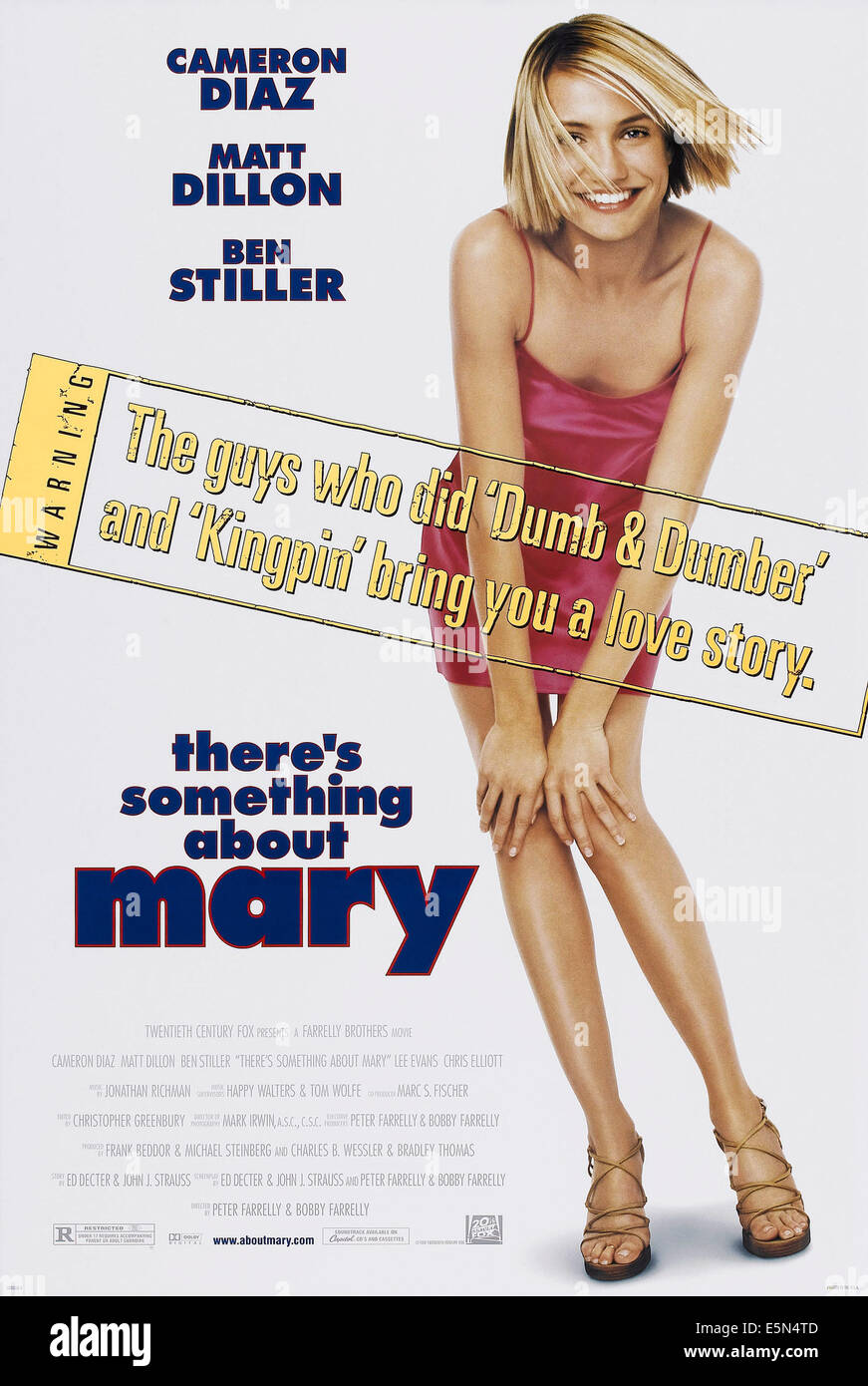 THERE'S SOMETHING ABOUT MARY, US poster art, Cameron Diaz, 1998, poster art, TM and Copyright (c)20th Century - Stock Image