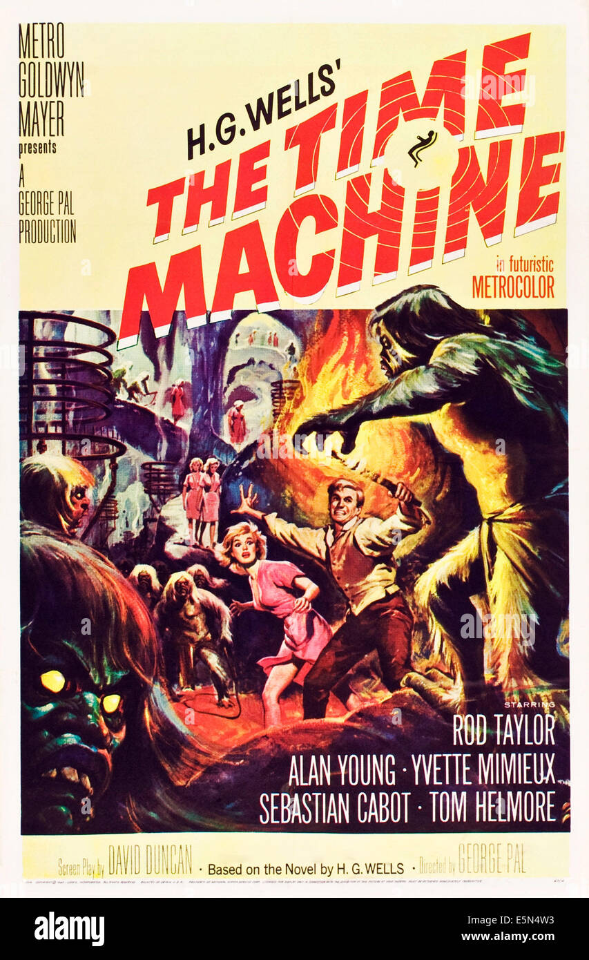 THE TIME MACHINE, from left: Yvette Mimieux, Rod Taylor, 1960. - Stock Image