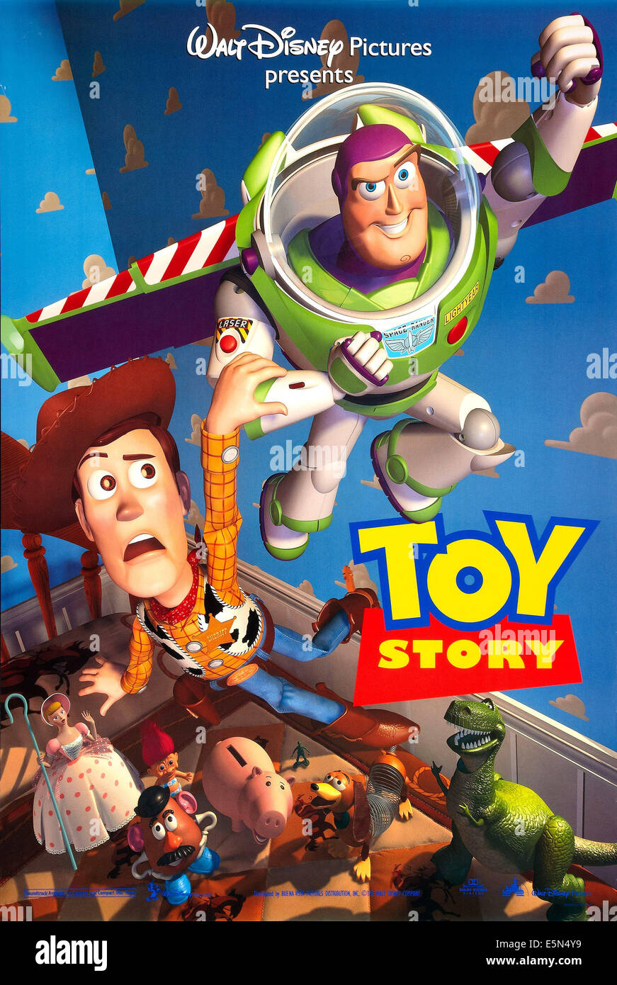 TOY STORY, Woody, Buzz Lightyear, 1995, poster art - Stock Image