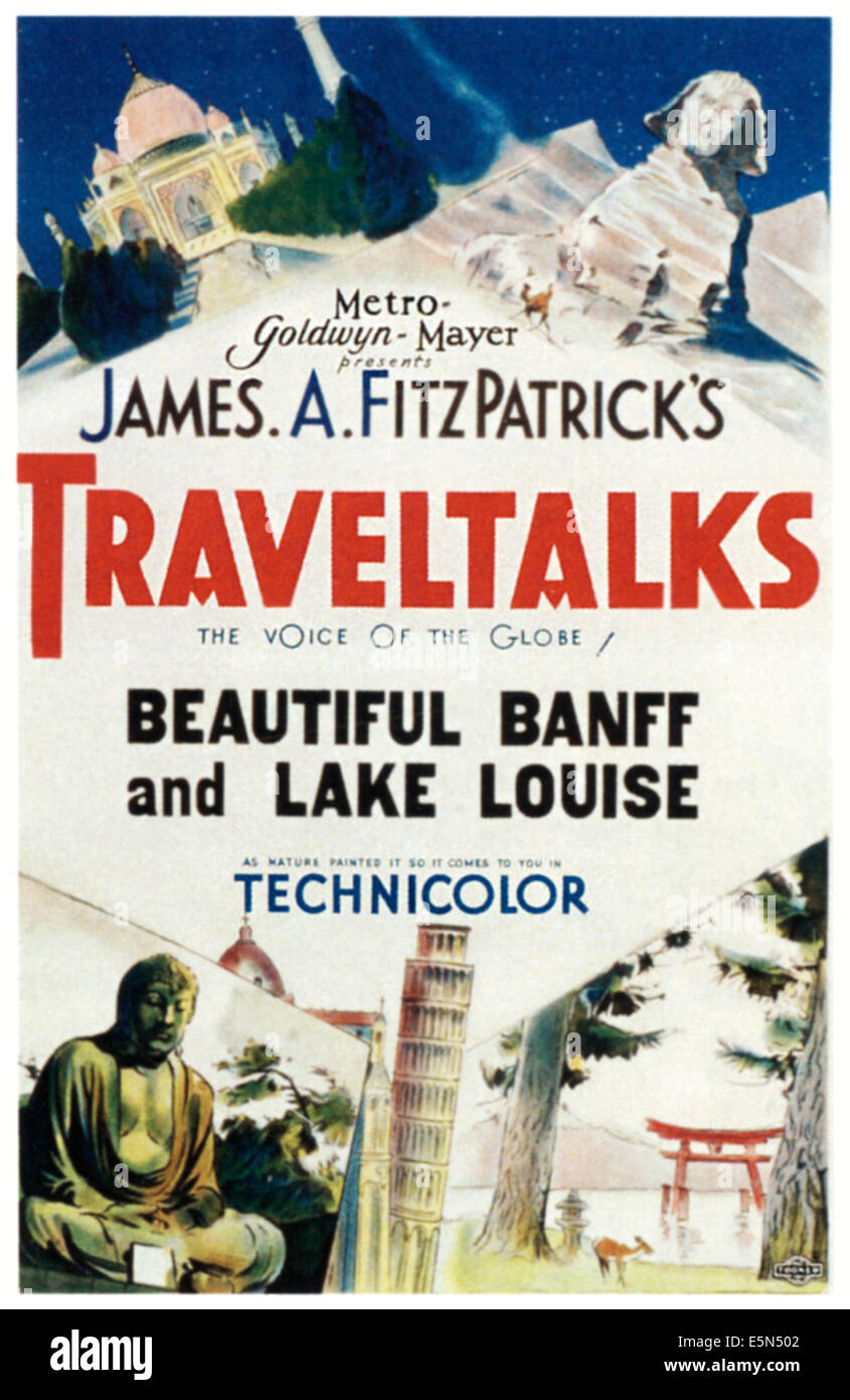TRAVELTALKS, poster art, ca. 1930s - Stock Image