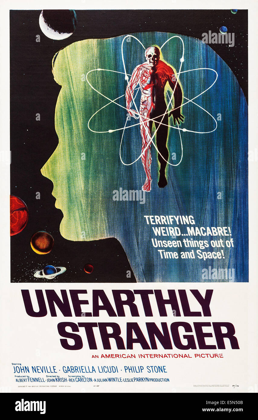 UNEARTHLY STRANGER, US poster art, 1963 - Stock Image
