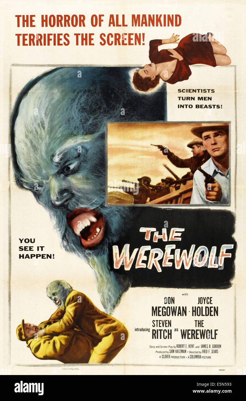 THE WEREWOLF, 1956. - Stock Image