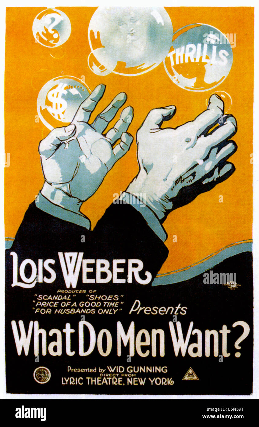WHAT DO MEN WANT?, 1921. - Stock Image