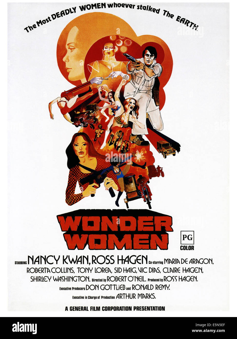 WONDER WOMEN, poster art, 1973. - Stock Image
